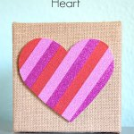 Washi Tape Heart Craft