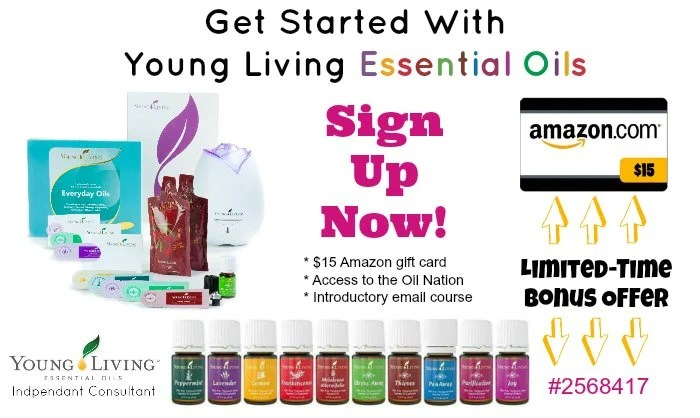 Young Living Essential Oils Starter Kit - gift certificate samples