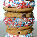 Red White and Blue Ice Cream Sandwich
