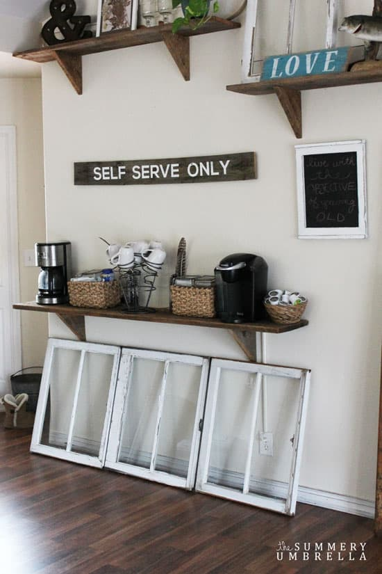how to make a coffee station the summery umbrella