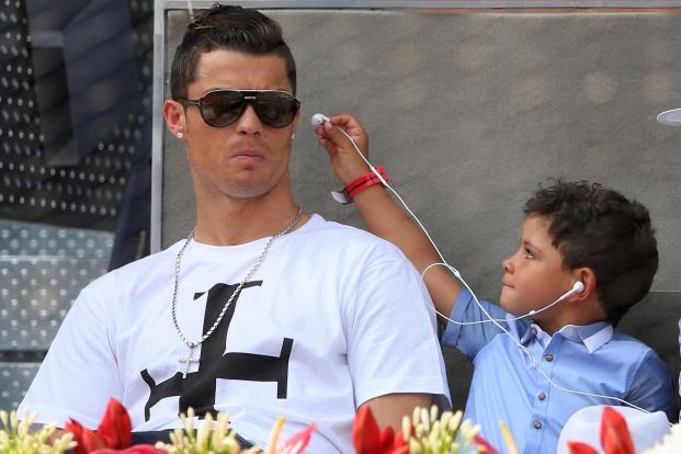 Image result for cristiano and son