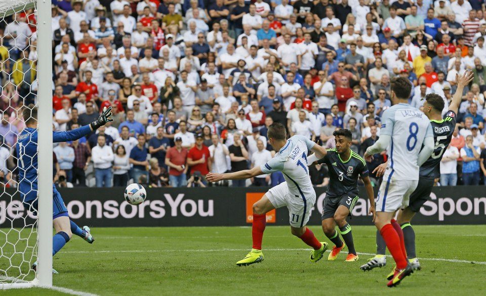 The Leicester striker's tournament highlight as he equalises against Wales