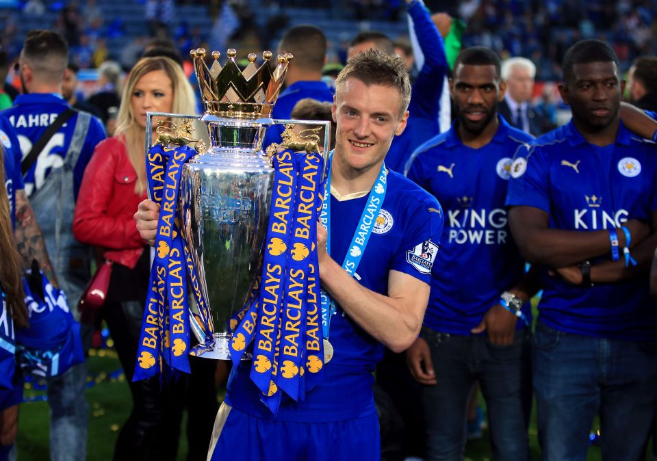 Jamie Vardy has decided to stay with Premier League champions Leicester