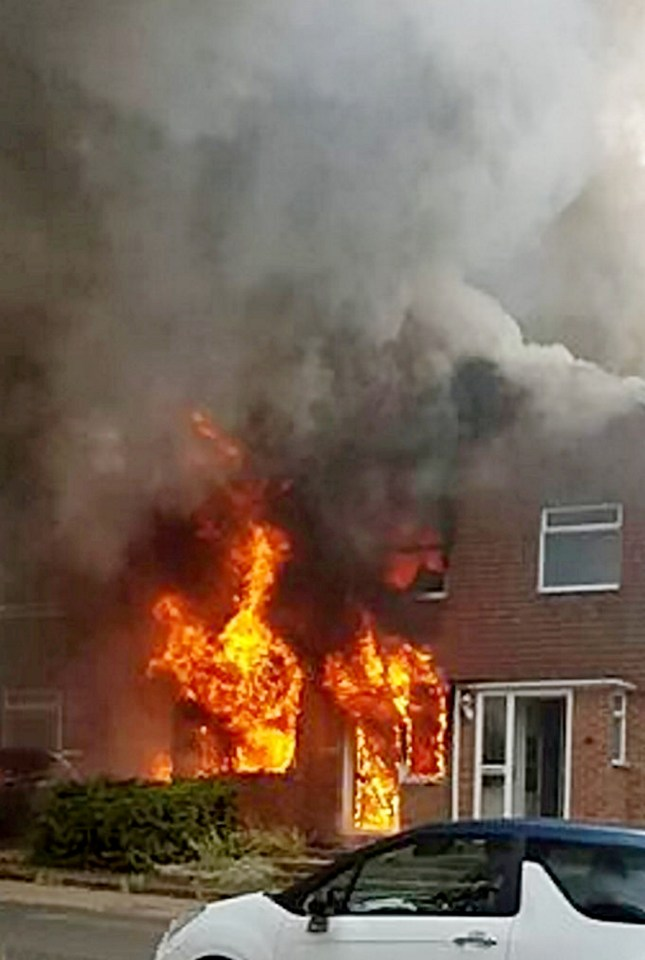 Terrified Mum And Three Kids Flee Their Home As It Catches Fire