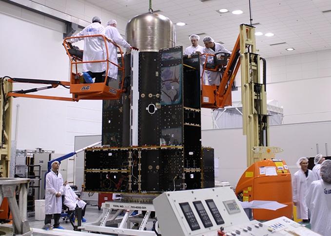 The Israeli made Amos-6 satellite