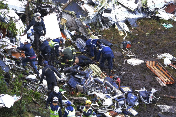 Seventy-six people are now known to have died following the crash near the Colombian city of Medellin