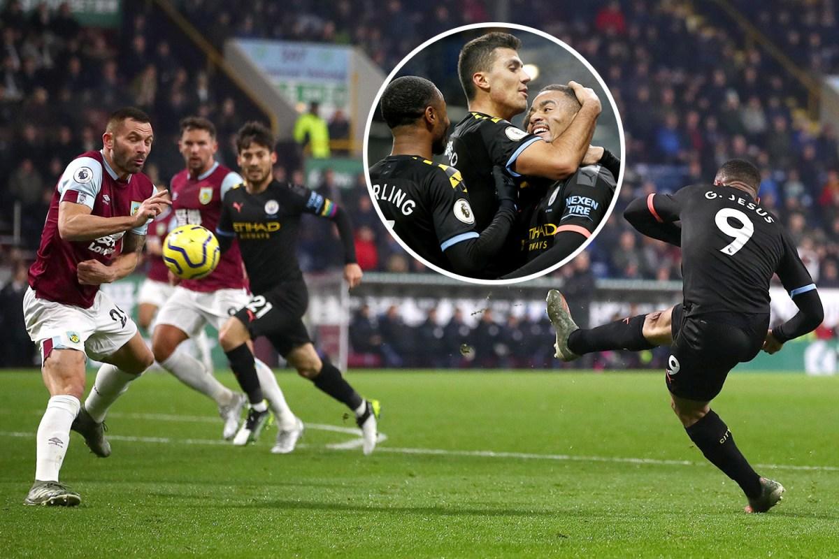 Burnley Vs Man City Live Result Jesus Rodri And Mahrez