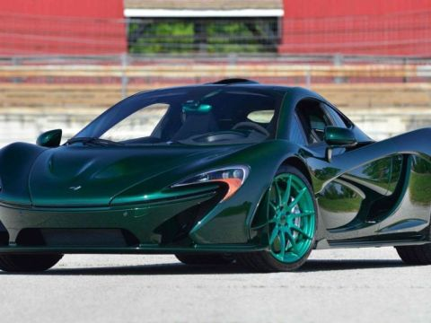Green McLaren P1 heads to Monterey Auction-1