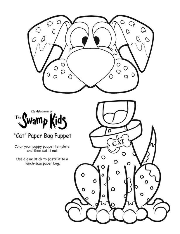 Cat\u201d Paper Bag Puppet