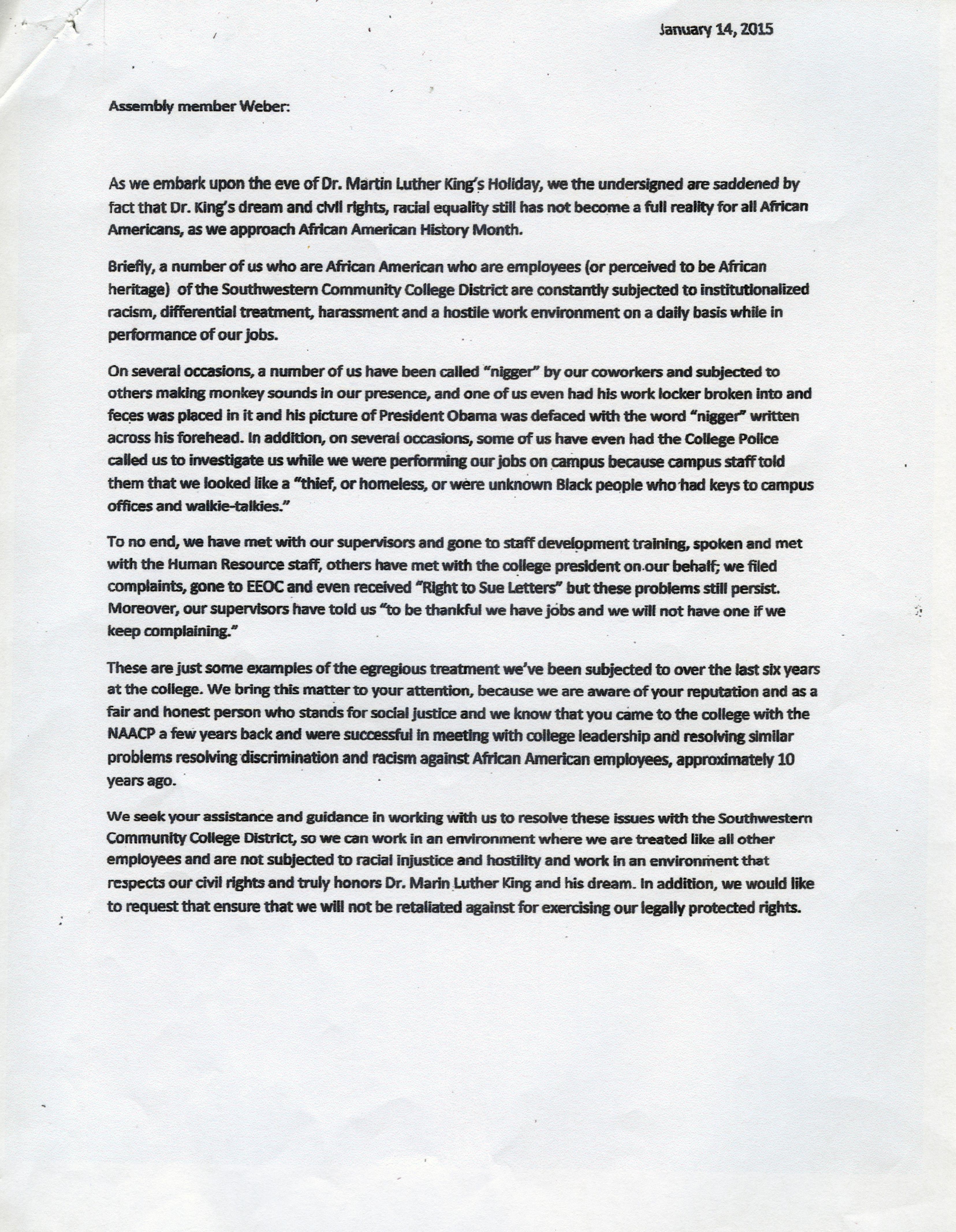 Unfair treatment at work sample letter - Sample Complaint Letter Unfair Treatment At Work