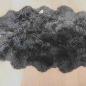 Huge slate grey sheepskin rug the swedish wooden horse