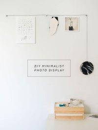 DIY Minimalist Hanging Photo Display | The Sweet Beast