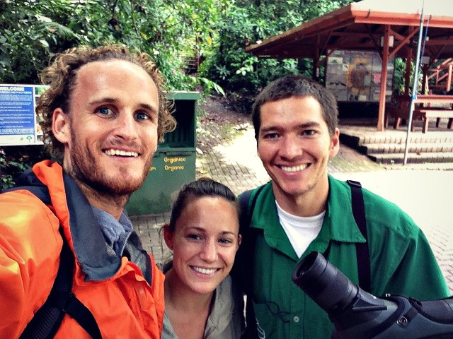 With our guide at the Monteverde Cloud Forest Reserve