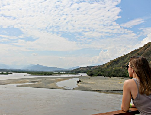Hanging out on the Cauca River near Santa Fe de Antioquia