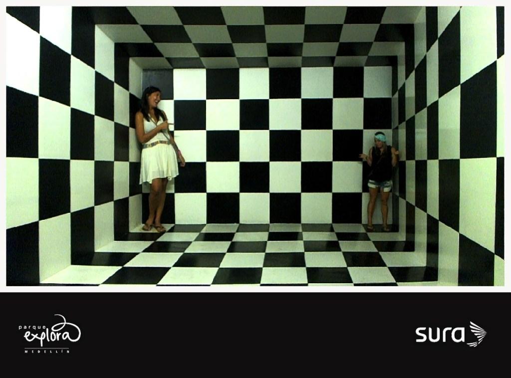 Mind games at Parque Explora, Medellin, Colombia