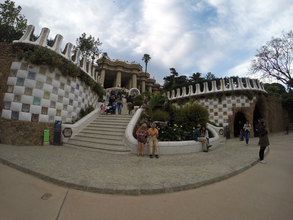 Travel Photos with a GoPro, Park Guell, Barcelona