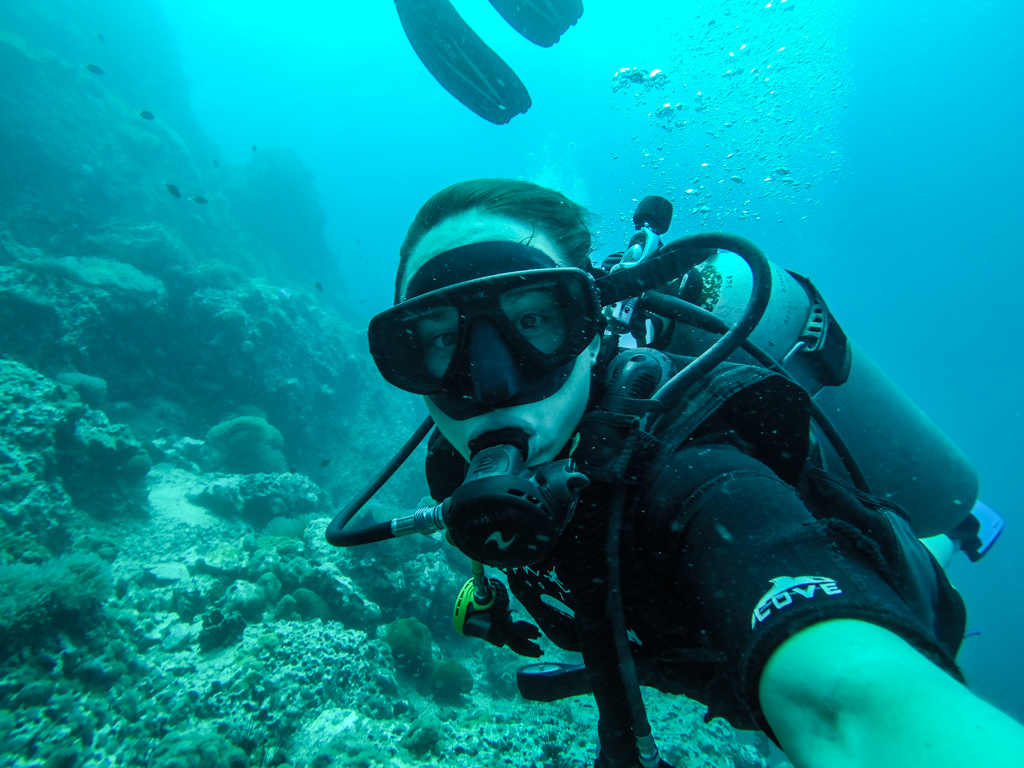 Travel Photos with a GoPro, Diving in Koh Tao