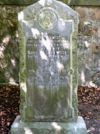 Headstone: Alexander Sweet Barbara Dunn Wright Archibald Macintyre Sweet