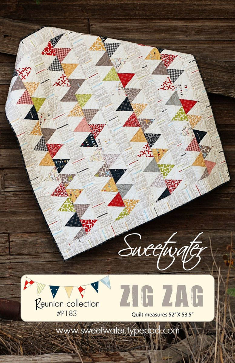 Zig Zag Quilt Pattern Sweetwater