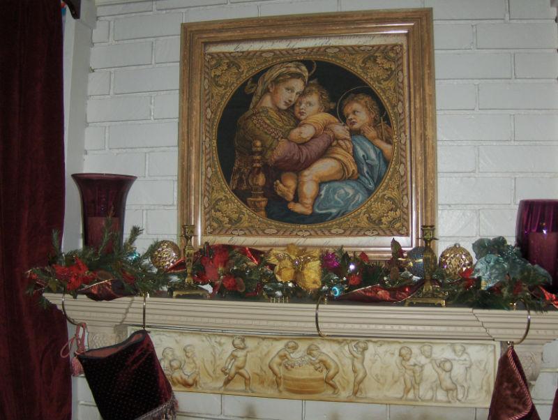 The Madonna Of The Chair Tapestry Madonna Della Seggiola