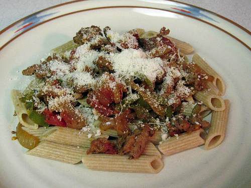 Skillet Penne with Sausage and Peppers