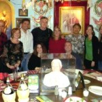 Buca di Beppo's Pope table