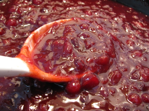 Cranberries, thickened