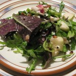 Mixed Spring Greens with Bourbon Vinaigrette