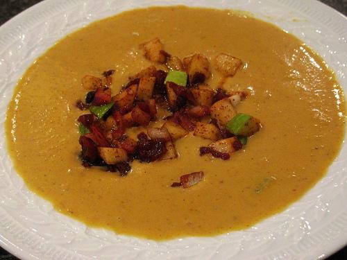 Rachel Ray's Pumpkin Soup with Chili Cran-Apple Relish