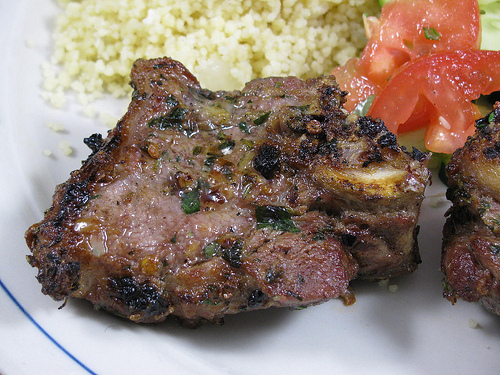 Garlic Grilled Lamb Chops