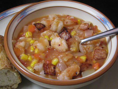 Red Shrimp Corn Chowder
