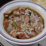 slowcooker sausage red beans rice soup
