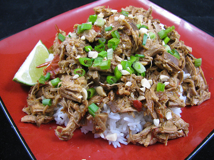 Slow Cooker Thai Pork over Rice
