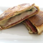 Panini with Salami, Fontina, and Baby Spinach