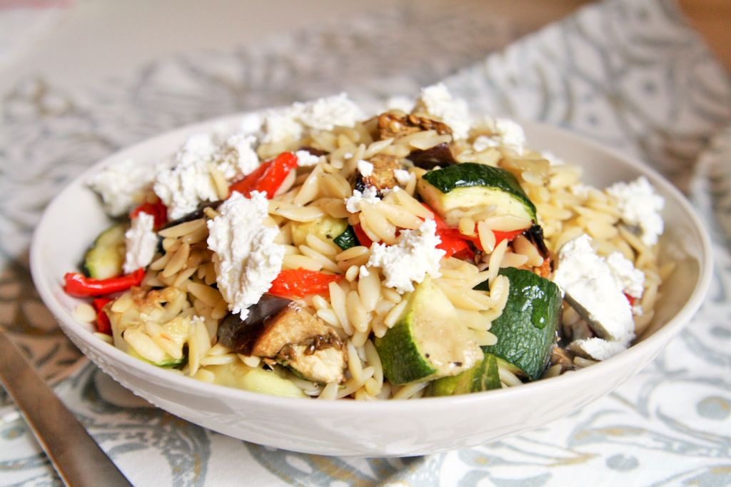 recipe: orzo with roasted vegetables and feta [8]
