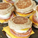 Egg, Cheese, and Bacon Breakfast Sandwiches {McMuffin copycat}