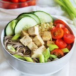 Soba Noodle Salad with Vegetables and Tofu {Meatless Monday}
