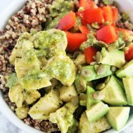 Pesto Chicken Quinoa Power Bowl