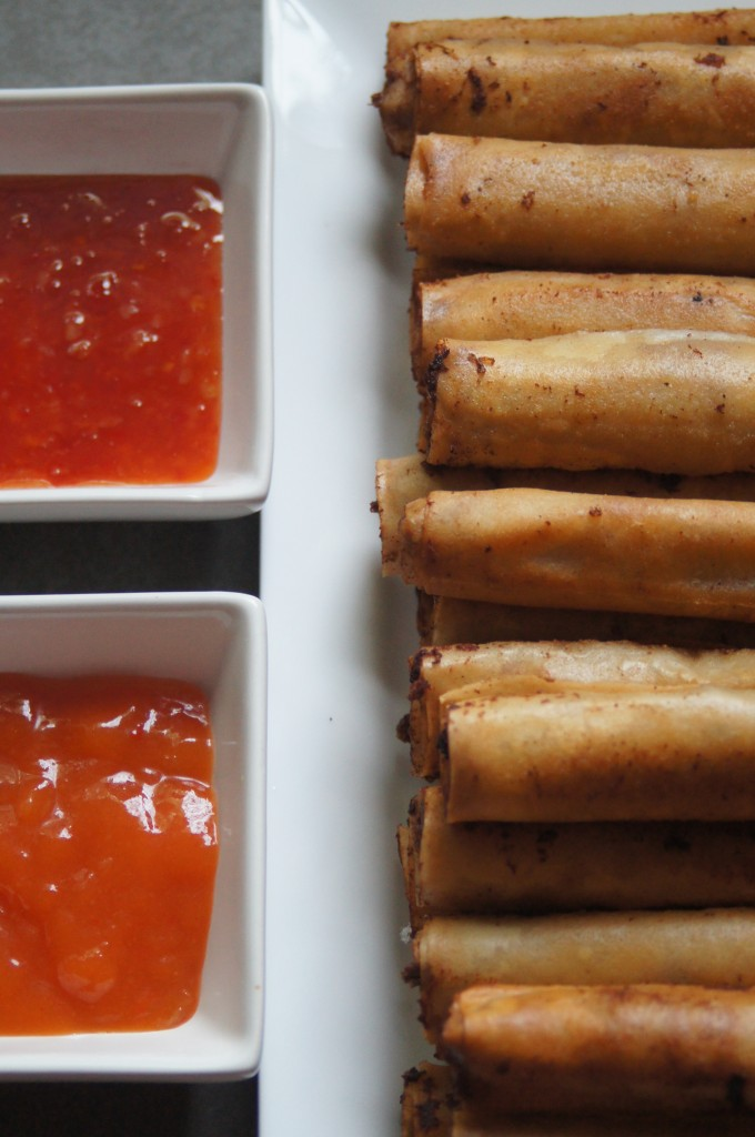 With dipping sauces