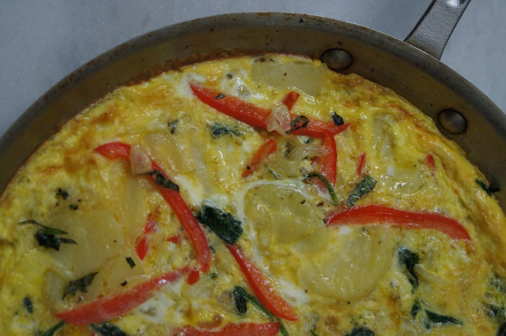Potato, Spinach, & Red Pepper Frittata
