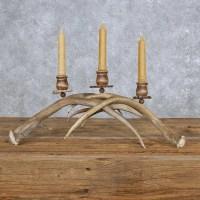 Mule Deer Antler Candle Holder For Sale #14007 - The ...
