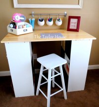 DIY Inexpensive Craft Table with Storage - The Taylor House
