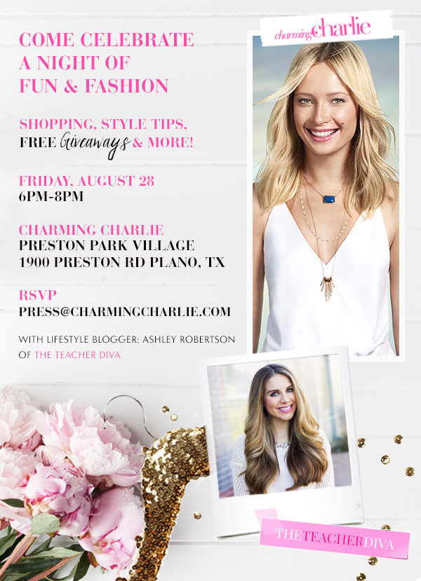 Charming Charlie Event Invite