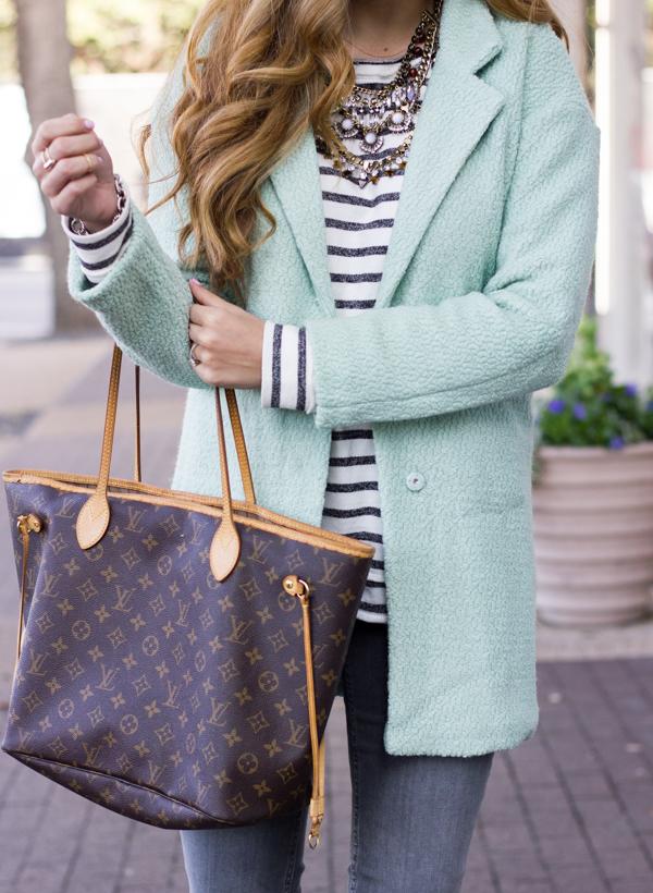 she inside mint coat