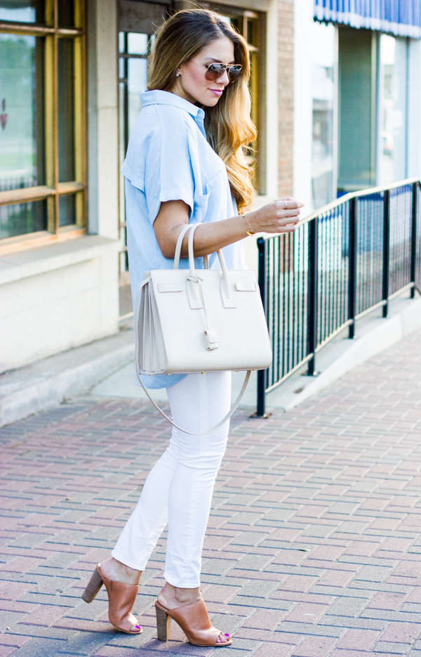 chambray top outfit
