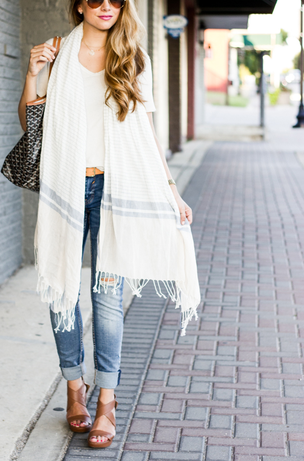 long scarf outfit