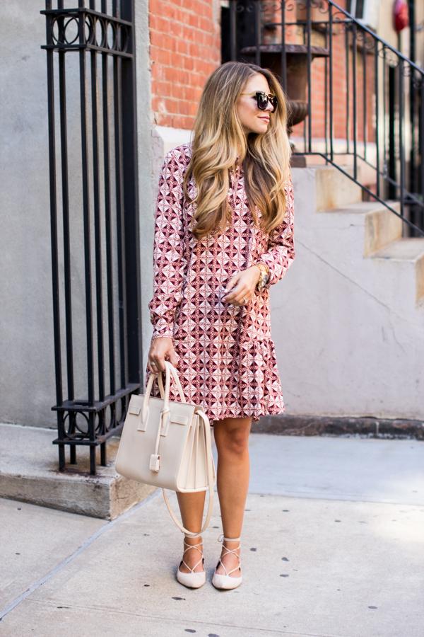 Pink Geo Print Dress
