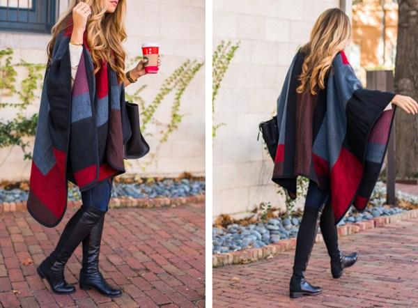 colorblock cape