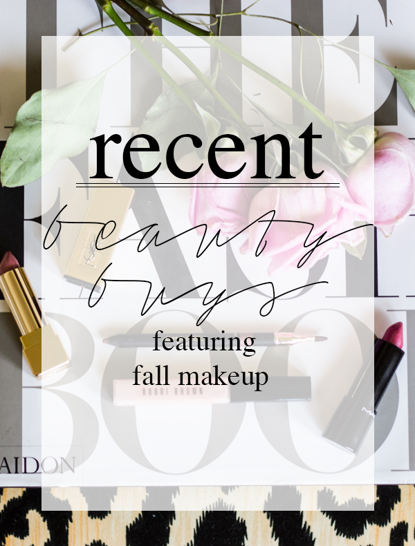 recent beauty buys template