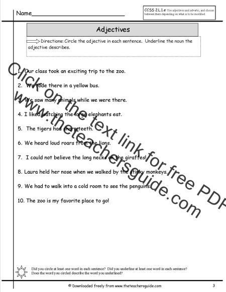 Practice Exercise On Adjectives